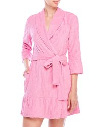 8909a86022 Lyst - Juicy Couture Ruffle Terry Logo Robe in Pink