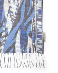 Emilio Pucci   Blue Palio Oblong Silk Scarf   Lyst