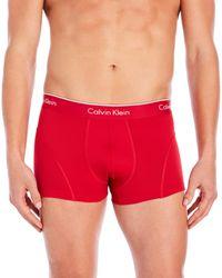 Calvin Klein   Red Pro Mesh Trunks for Men   Lyst