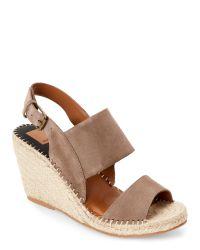 Dolce Vita | Brown Almond Terran Open Toe Espadrille Wedge Sandals | Lyst