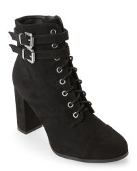 Madden Girl   Black Klaim Lace-Up Ankle Booties   Lyst