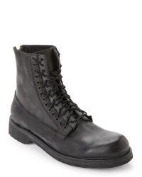 DIESEL | Black Ruggst D-Ayddlets Lace-Up Boots for Men | Lyst