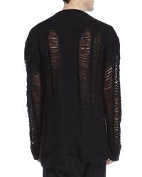Barbara I Gongini - Black Ladder Knit Sweater for Men - Lyst