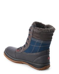 Pajar - Blue Grey & Navy Tour Snow Boots for Men - Lyst