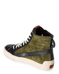 DIESEL - Green D-velows D-string Plus Mid Sneaker for Men - Lyst