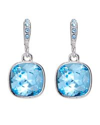 Givenchy - Silver-Tone & Blue Drop Earrings - Lyst