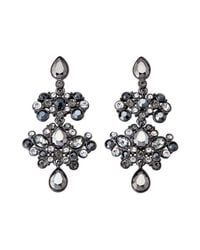 Givenchy - Multicolor Hematite-tone Drop Earrings - Lyst
