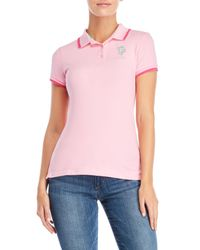 U.S. POLO ASSN. - Pink Metallic Pony Polo - Lyst