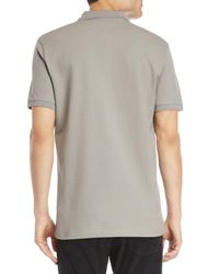 Versace - Gray Pique Polo for Men - Lyst