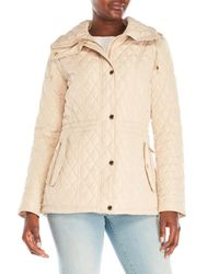MICHAEL Michael Kors - Natural Diamond Quilted Anorak Jacket - Lyst