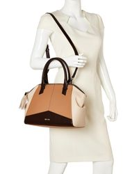 Nine West | Multicolor Dark Camel & Raisin Lady Of Leisure Satchel | Lyst