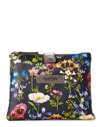 Kenneth Cole Reaction | Blue Floral Double Zip Tab Case | Lyst