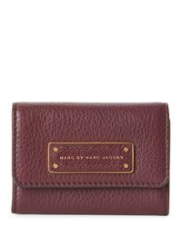 Marc By Marc Jacobs | Purple Dark Wine Too Hot To Handle Card Holder | Lyst