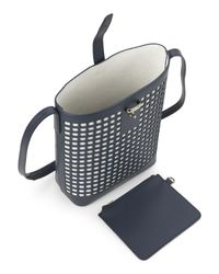 Mother Of Pearl - Black Navy Check Leather Crossbody - Lyst