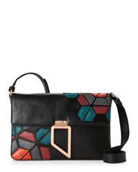 Foley + Corinna | Black Valerie Geo Patch Shoulder Bag | Lyst