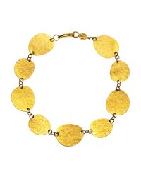Gurhan | Metallic 24K Gold Linked Disc Bracelet | Lyst