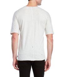 kultivate - White Distressed Slub Knit Tee for Men - Lyst