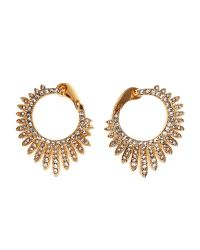 Vince Camuto | Metallic Gold-Tone Cross Over Hoop Earrings | Lyst