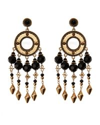 House of Harlow 1960   Metallic Gold-Tone & Black Accented Earrings   Lyst