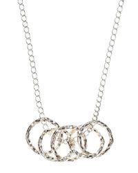 Dogeared - Metallic Small Sparkle Karma Multi Link Necklace - Lyst