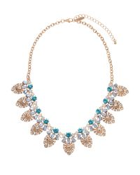 Natasha Couture | Metallic Gold-Tone Floral Statement Earrings Necklace | Lyst