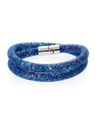 Swarovski | Blue Stardust Double Wrap Bracelet | Lyst