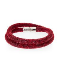 Swarovski | Medium Red Stardust Bracelet | Lyst