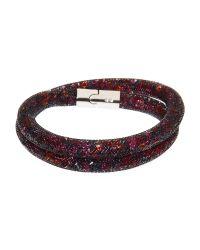 Swarovski   Brown Stardust Double Wrap Bracelet   Lyst