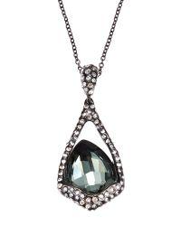 Alexis Bittar   Black Miss Havisham Pave-Quartz Pendant Necklace   Lyst
