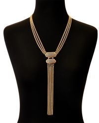 Vince Camuto | Metallic Slinky Y-necklace | Lyst