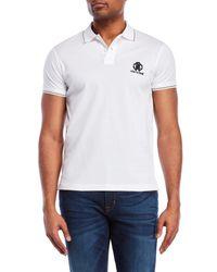 Roberto Cavalli - White Tipped Logo Pique Polo for Men - Lyst