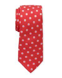 Ike Behar   Red Floral Silk Tie for Men   Lyst