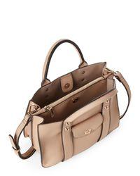 Moda Luxe - Natural Camel Rockefeller Faux Leather Satchel - Lyst