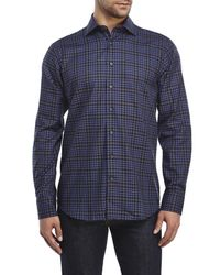 Tocco Toscano - Black Plaid Sport Shirt for Men - Lyst