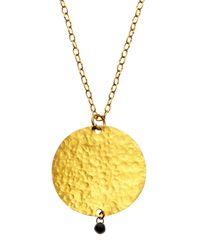 Gurhan - Multicolor 24K Gold Round Pendant Necklace - Lyst