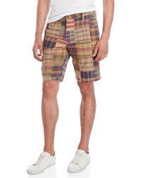 Tailor Vintage - Metallic Plaid Pathwork Shorts for Men - Lyst