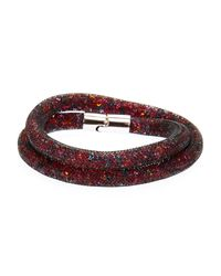 Swarovski - Red Starburst Double-Wrap Bracelet - Lyst