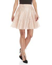 Philosophy Di Lorenzo Serafini - Pink Lace Pleated Skirt - Lyst