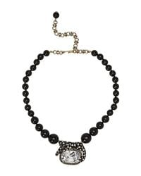 Heidi Daus - Black Wild Side Lounging On Gems Beaded Necklace - Lyst