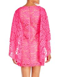 Trina Turk - Pink Iliana Three-Quarter Sleeve Cape Shift Dress - Lyst