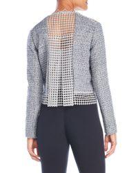 T Tahari - Blue Annabeua Embellished Jacket - Lyst