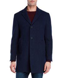 John Varvatos - Blue Walsh Melange Coat for Men - Lyst