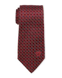 Versace - Red Small Circles Tie for Men - Lyst