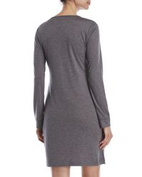CALVIN KLEIN 205W39NYC - Gray Liquid Luxe Night Shirt - Lyst