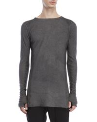 Masnada - Gray Long Sleeve Tee for Men - Lyst