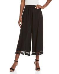 Do+Be Collection - Black Tassel Trim Pants - Lyst