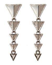 House of Harlow 1960 - Metallic Silver-Tone Triangle Drop Earrings - Lyst