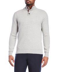 Tommy Hilfiger - Gray Mock Neck Knit Pullover for Men - Lyst