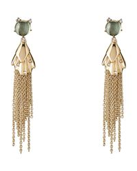 Alexis Bittar - Metallic Gold-tone Crystal-accented Tassel Earrings - Lyst