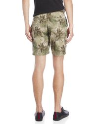 Slate & Stone Green Palm Tree Cargo Shorts for men